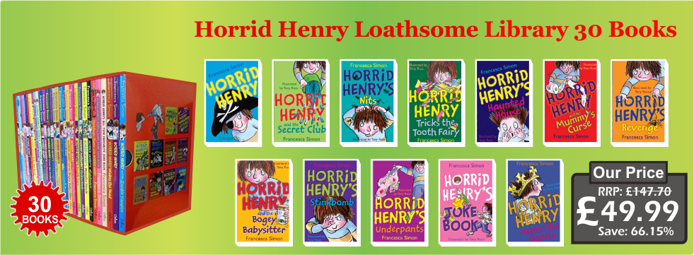 Horrid Henry Loathsome Library 30 Books Box Set Collection Pack Series