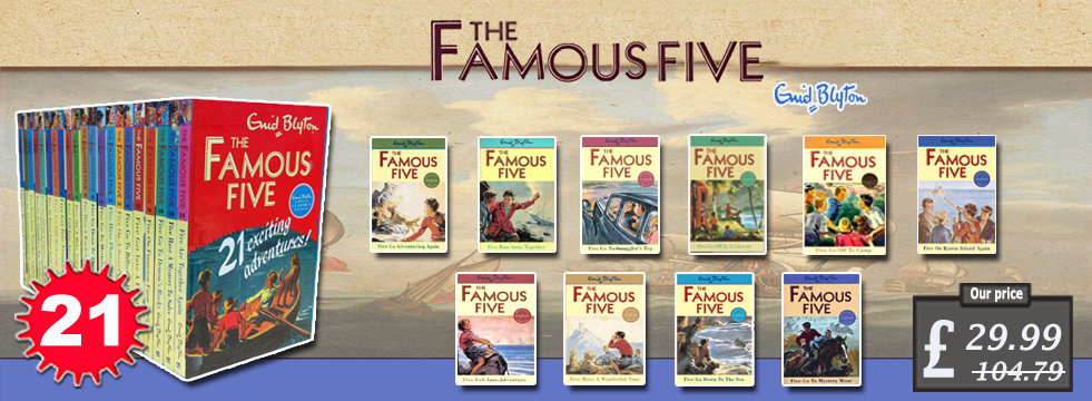 Enid Blyton FAMOUS FIVE Series 21 Books Set pack collection