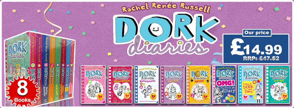 Dork Diaries Rachel Renee Russell Collection 8 Books Box Set
