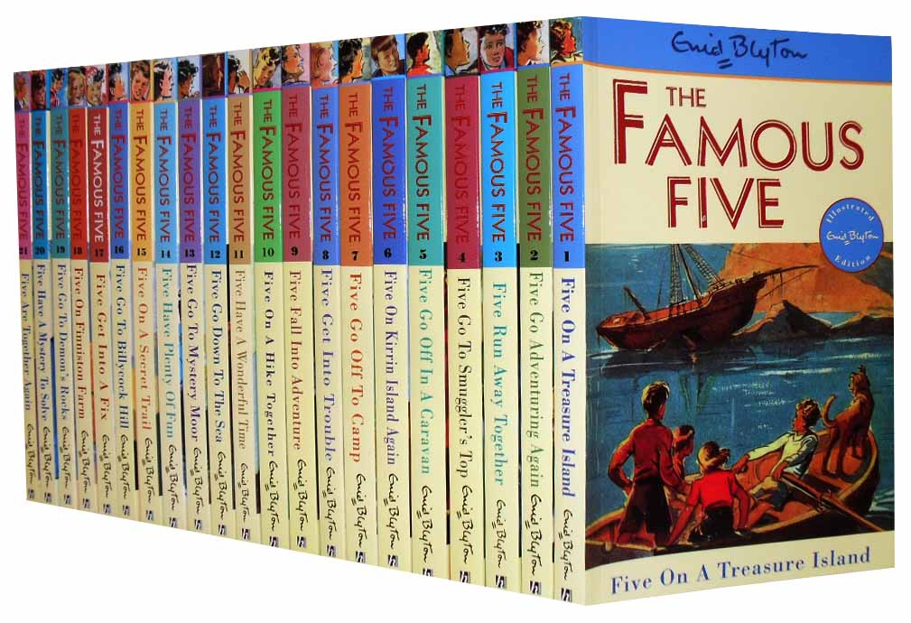 Enid Blyton Famous Five Series 21 Books Set (1 To 21) New RRP: £ 104.79