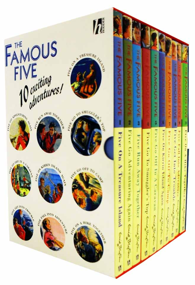 Enid Blyton Famous Five Series 10 Books Box Set Pack  New RRP: £ 49.99
