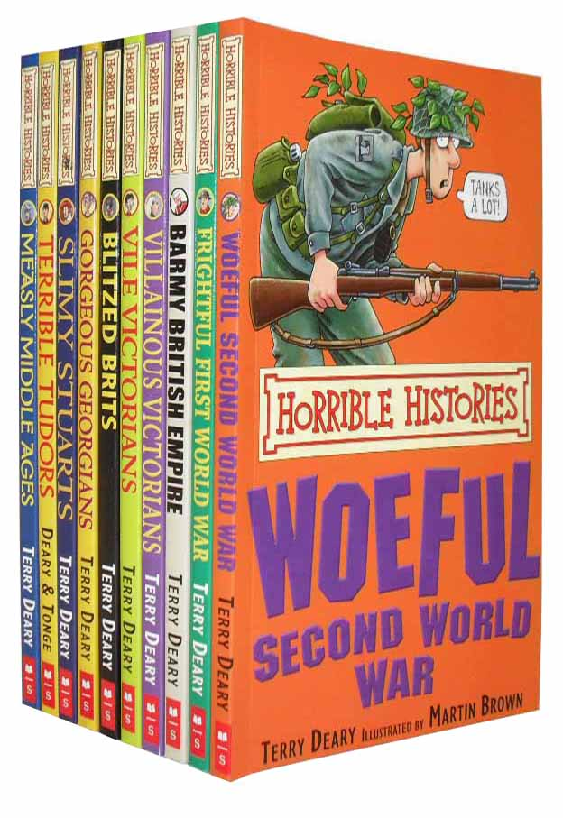 HORRIBLE HISTORIES 10 Children Books Set One RRP: £ 59.10
