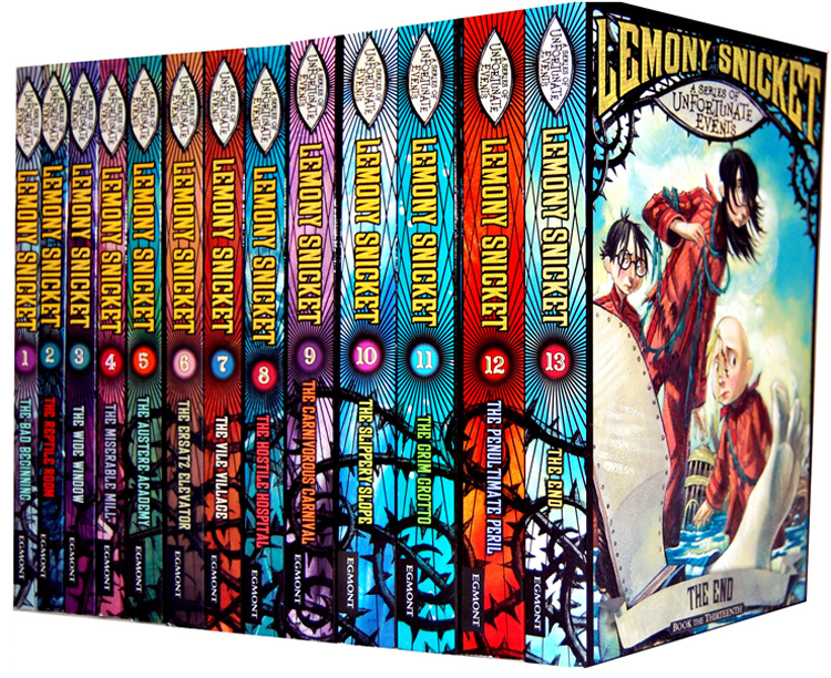 A series of unfortunate events 13 full books set lemony for Bureau 13 book series