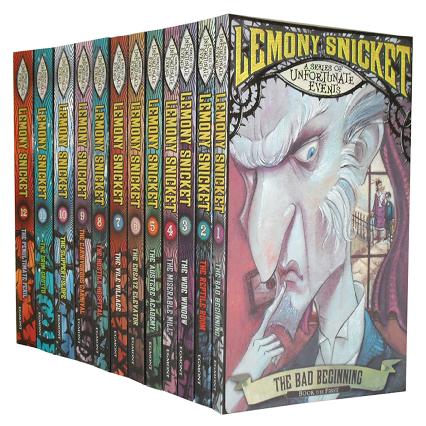 A Series of Unfortunate Events Collection 12 Books Set New RRP:  71.88