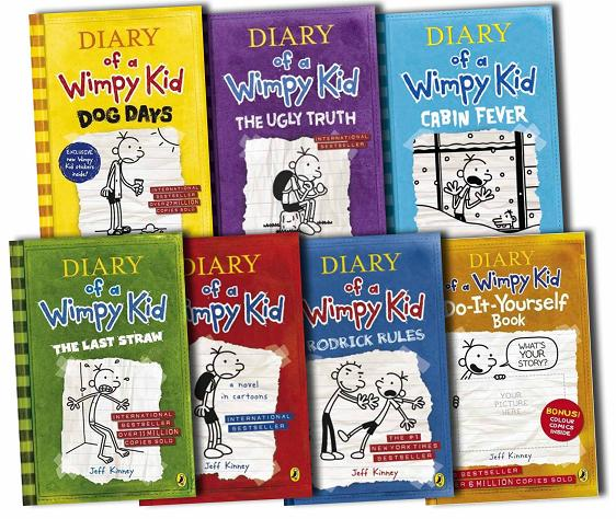 Diary of a Wimpy Kid Collection 5 Books Set RRP: £34.95