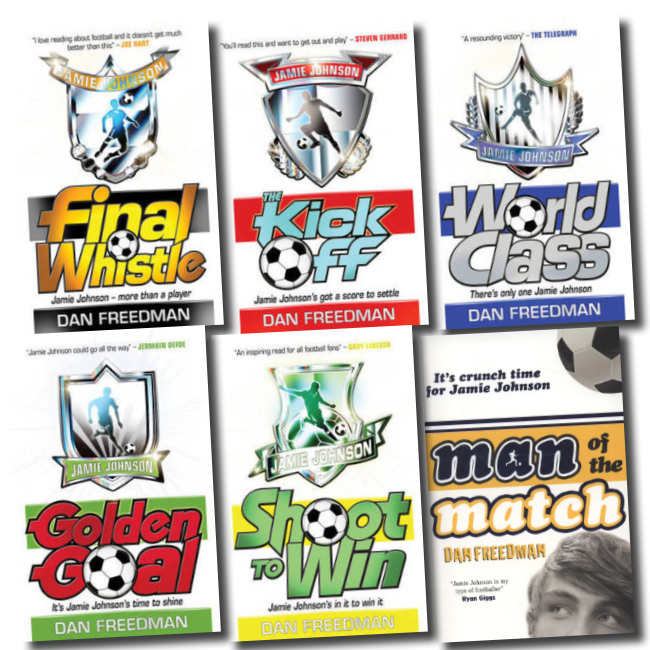 Jamie Johnson Football 4 Books Collection Dan Freedman