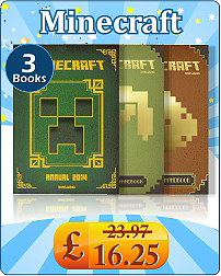 Minecraft 3 Books Collection Set