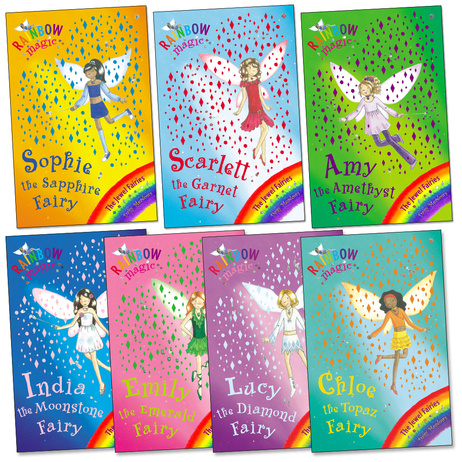 Rainbow Magic Fairies 8 Paperback Chapterbooks and 1 Sticker Book (B7-18)