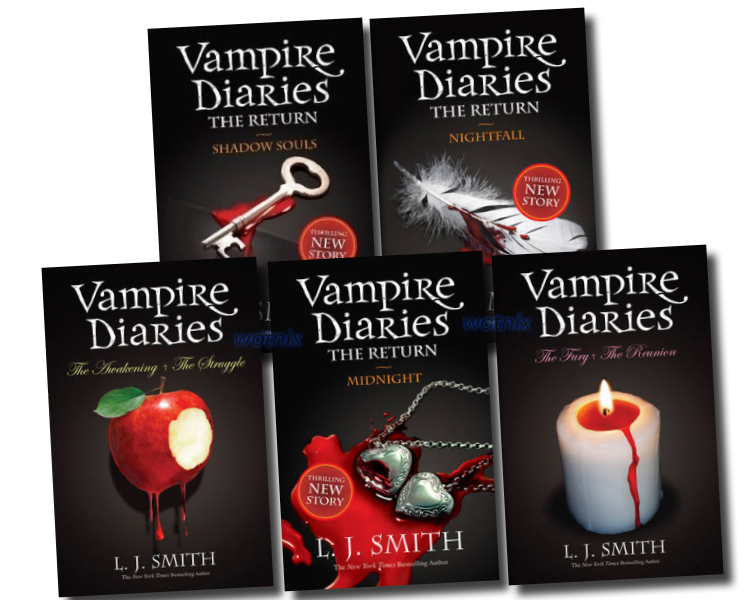 Vampire Diaries Collection L J Smith 5 Books Set Vol 1 to ...