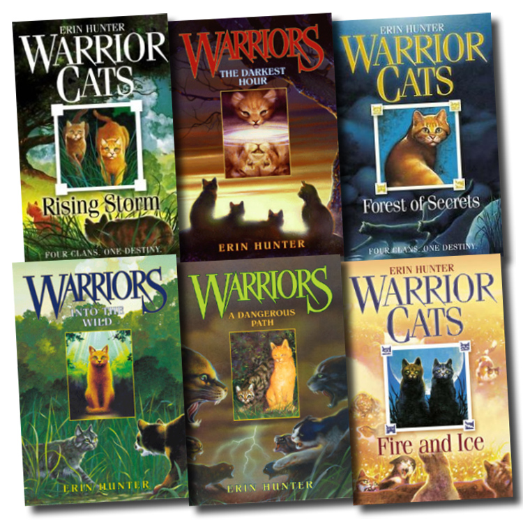 Warriors Book Series Quizzes: Warrior Cats Collection Erin Hunter 6 Books Set Pack