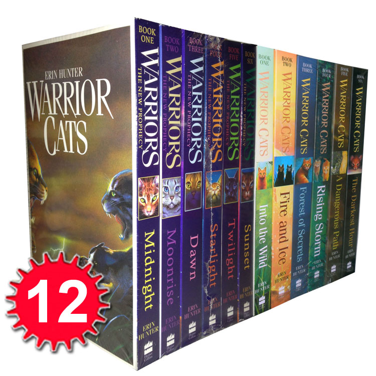 Warriors Into The Wild Movie By Erin Hunter: Warrior Cats Collection Erin Hunter 12 Books Set The New