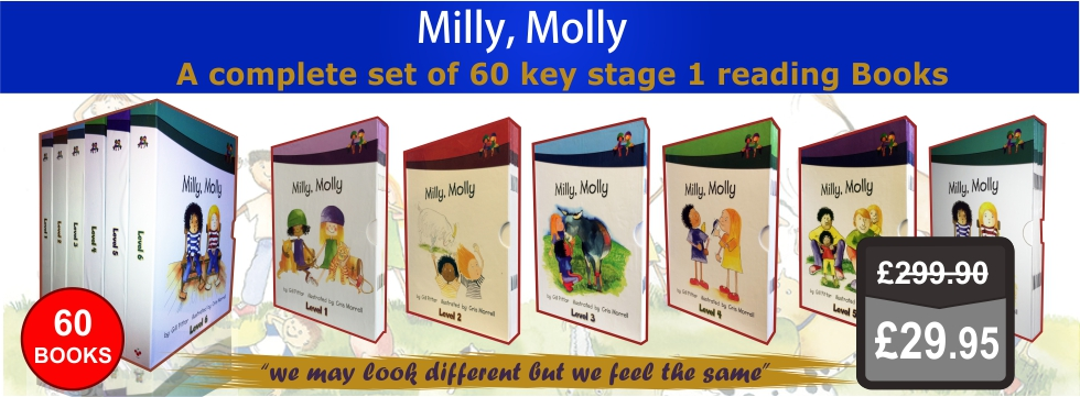 Milly Molly Level 1-6 60 Books Collection Set