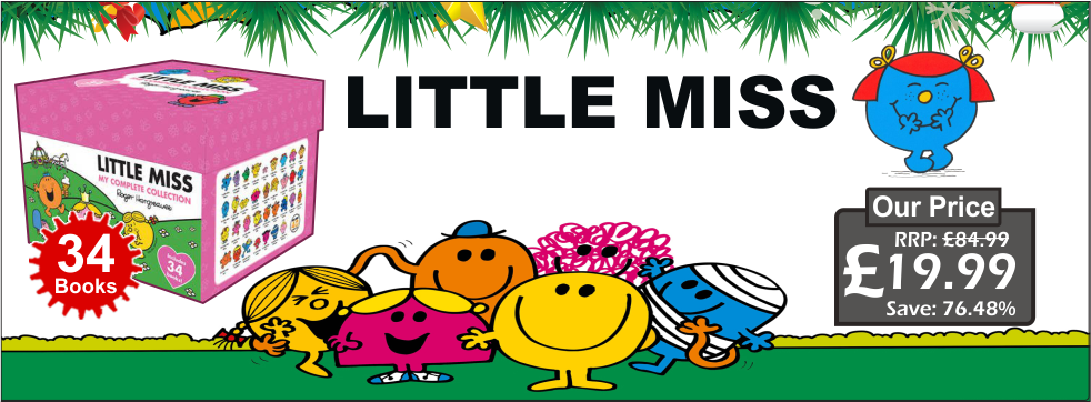 Little Miss 34 Books Collection Box Boxed Set