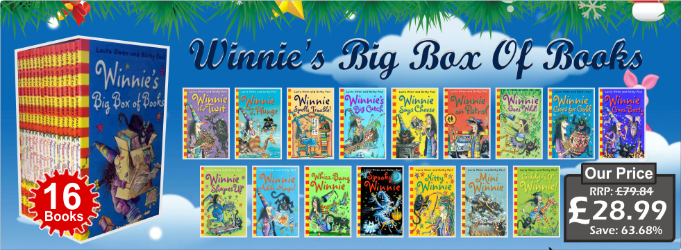 Winnie's Big Box Of Books (Winnie the Witch) Collection NEW Laura Owen