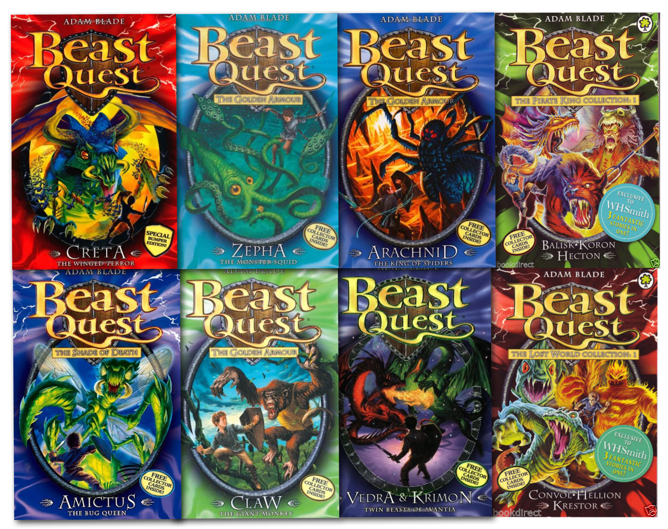 Beast quest special series collection 12 titles in 8 books set by adam