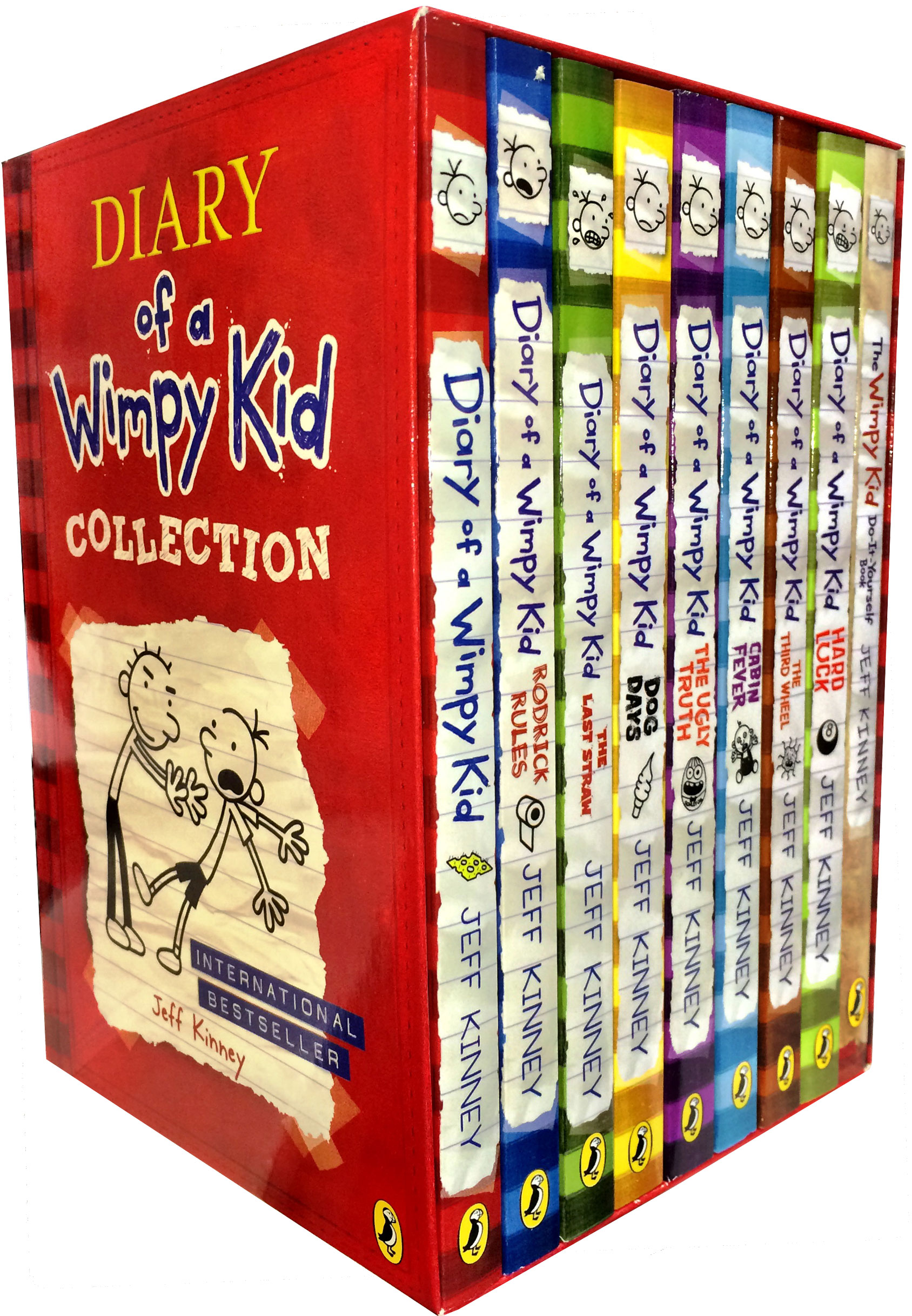 9 Books Set Diary of a Wimpy Kid Collection Third Wheel