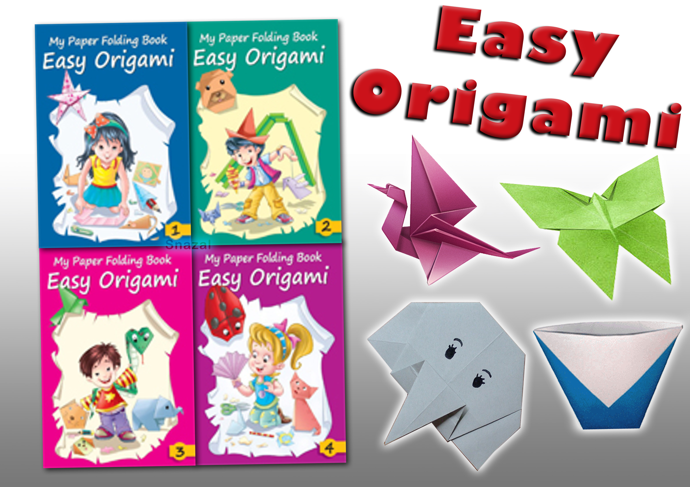Easy Origami Children Paper Craft Folding Collection 4 ... - photo#12