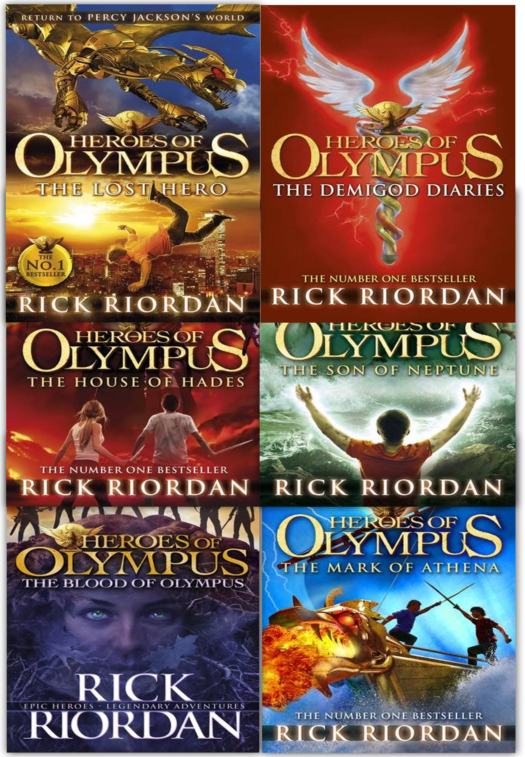 Heroes of Olympus Collection Rick Riordan 6 Books set ...