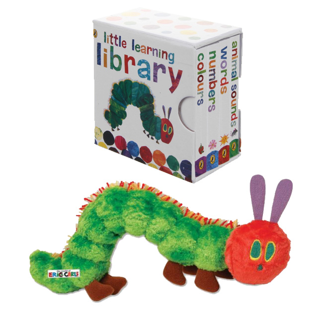 The Very Hungry Caterpillar Little Learning Library Collection Set Soft Toy