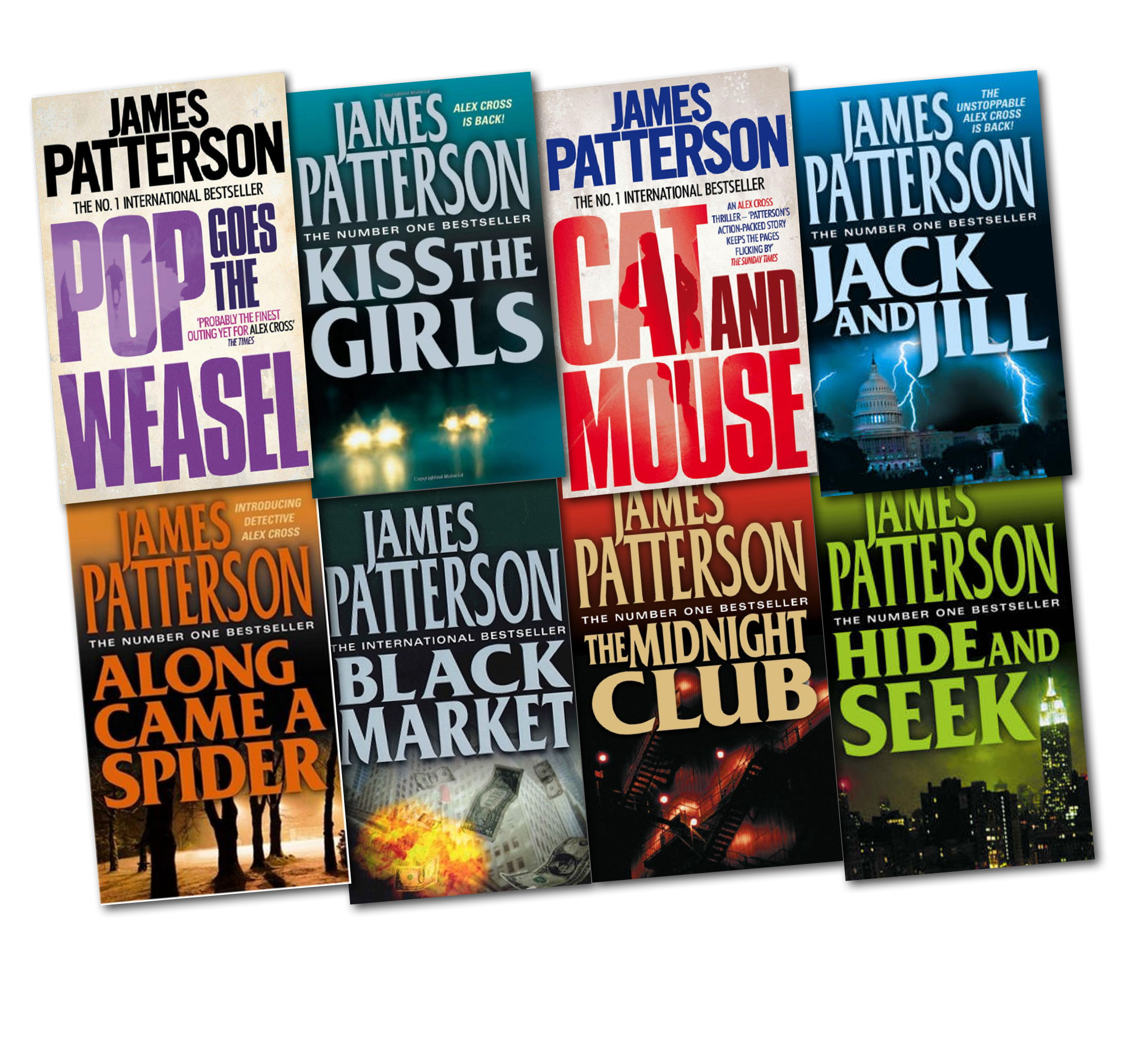 James Patterson 8 Books Collection Alex Cross Novel Set New Midnight Club More