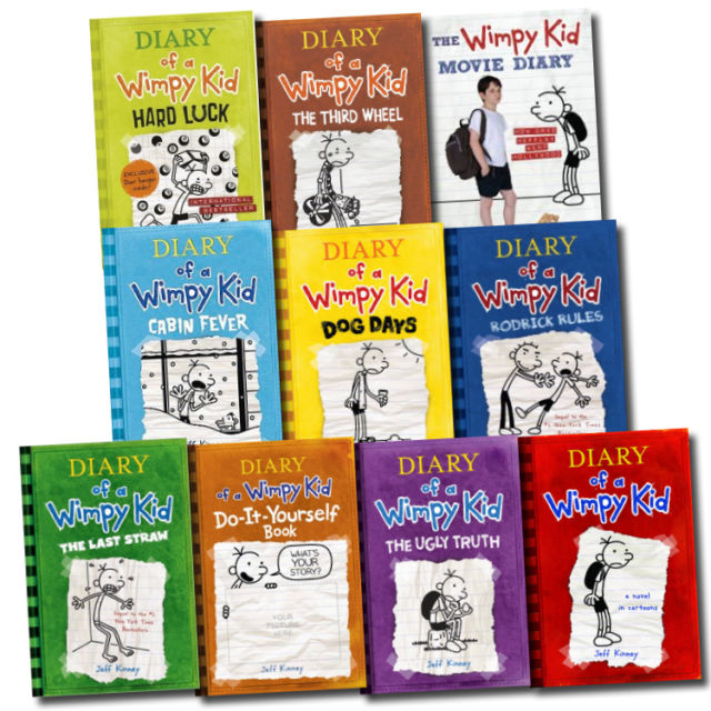 10 Books Set Diary Of A Wimpy Kid Collection Hard Luck