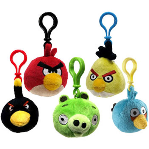 Angry birds plush backpack clips official brand new soft toy collection set ebay - Angry birds toys ebay ...