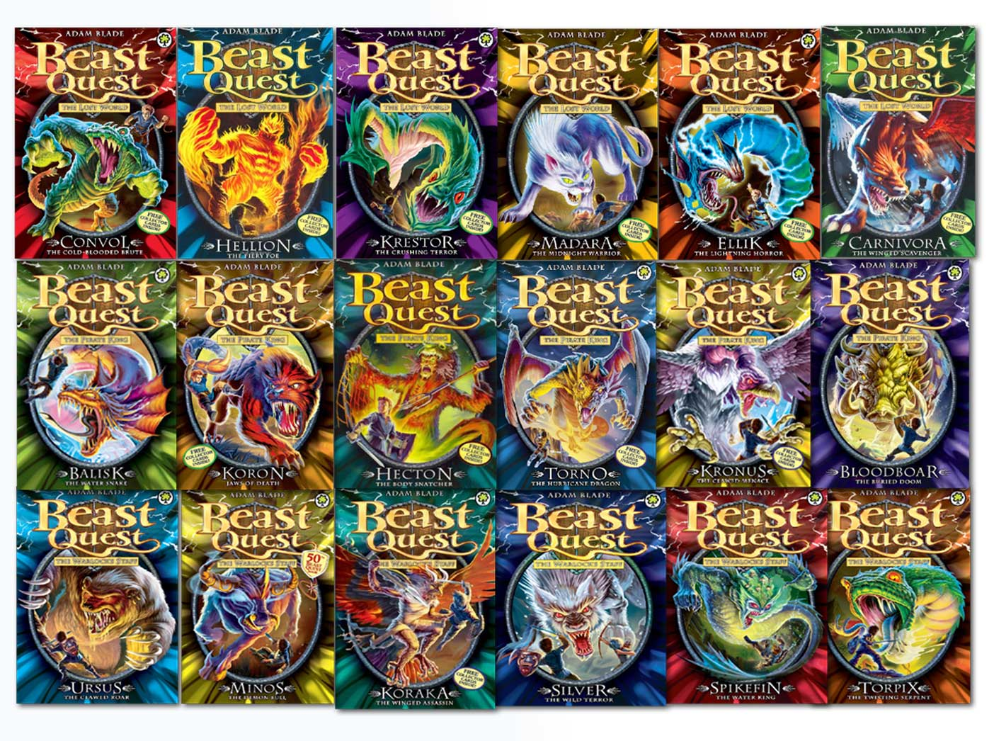 beast quest collection adam blade 18 books set pack 37 to